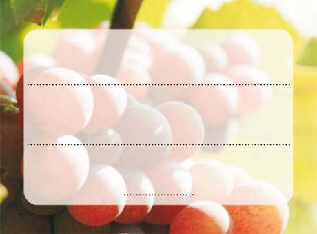 Label for Etiktou support - red grapes design